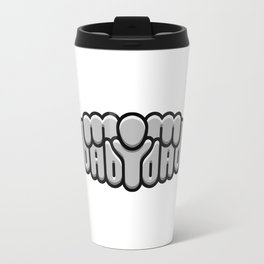 MOM BABY DAD ambigram Travel Mug