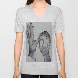 ASL Father in Denim Colors Unisex V-Neck