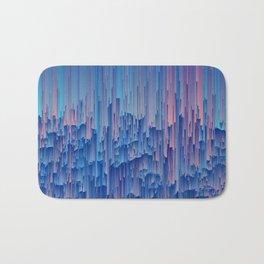 Glitchy Rain - Abstract Digital Piece Bath Mat