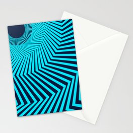 Circular Optical Illusion Stationery Cards