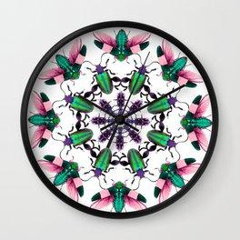 Bug Mandala 2 Wall Clock