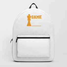 Game On Chess Match Player Grandmaster Backpack