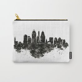 Cincinnati Skyline Black and White Carry-All Pouch