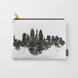 Cincinnati Skyline Black and White Carry-All Pouch