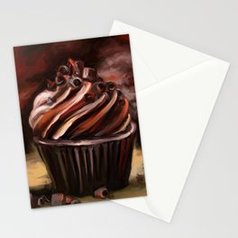 Chocolate muffins Stationery Cards