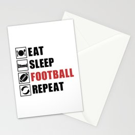 American Football Repeat Team Game USA Gift Idea Stationery Cards