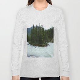 Sunwapta Falls - Jasper National Park Long Sleeve T-shirt