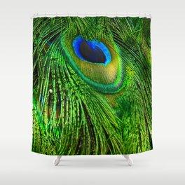 Peacock Glitter Shower Curtain