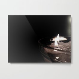 Burning candels Metal Print
