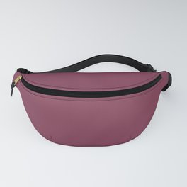 Velvet Maroon Simple Solid Color All Over Print Fanny Pack
