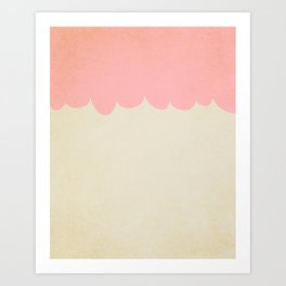 A Single Pink Scallop Art Print