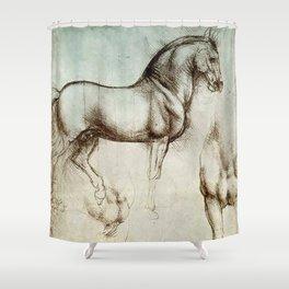 "Leonardo da Vinci ""Gran Cavallo"" Shower Curtain"