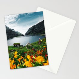 cottage at faroe Stationery Cards