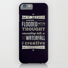 Funny Movie Quote from Blazing Saddles by Harvey Korman iPhone Case