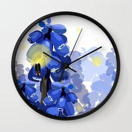 Grape Hyacinth Wall Clock