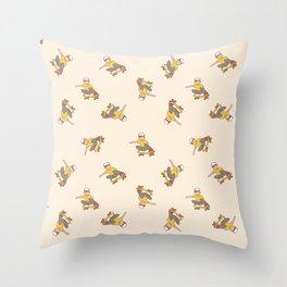 Skater Boy in Yellow Throw Pillow