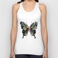butterfly Tank Tops featuring butterfly  by mark ashkenazi