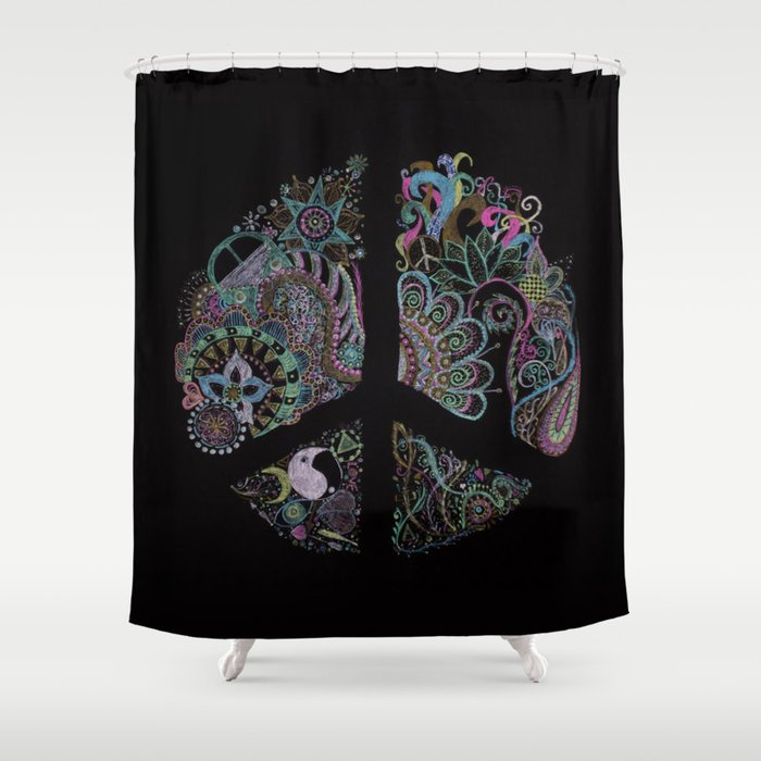Hippie Shower Curtain By Monicamarcov