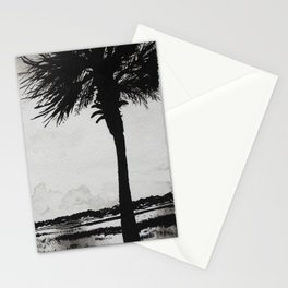 Palm Tree on the Marsh Stationery Cards
