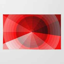 Red Monochromatic Circle Rug