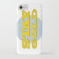 stay gold iPhone & iPod Cases featuring Stay Gold by abominable
