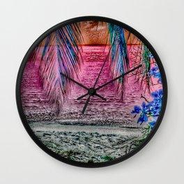 Paradiso, pink Wall Clock