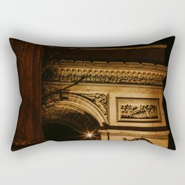 Arc de Triomphe by night | Colourful Travel Photography | Paris, France Rectangular Pillow