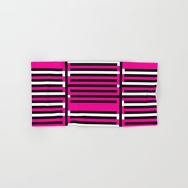 Licorice Bytes, No.6 in Black and Pink Hand & Bath Towel