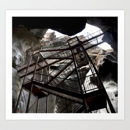 Box Canyon Falls - View from the Bottom of the Crevasse Art Print