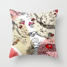 Animals wood Throw Pillow