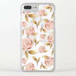 Blushing blooms Clear iPhone Case