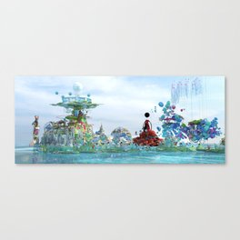 Arrivng at the city of paradise Canvas Print