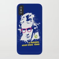 beethoven iPhone & iPod Cases featuring Beethoven Hippie by Maldita Novena