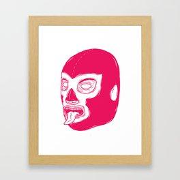 Pink Luchador Framed Art Print