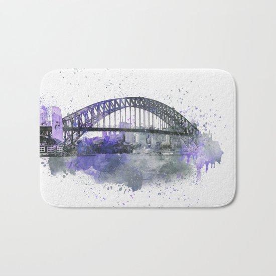 Sydney Harbor Bridge II Bath Mat