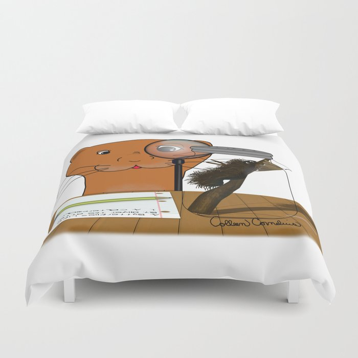 Homeschooling Oliver The Otter - The Caterpillar Duvet Cover