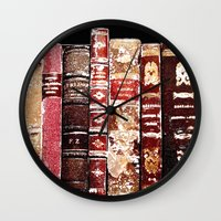 books Wall Clocks featuring Books by Regan's World