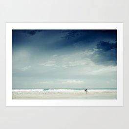 Storm Surfer Art Print