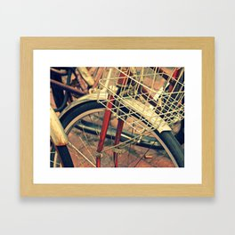 Hipster Bike Framed Art Print