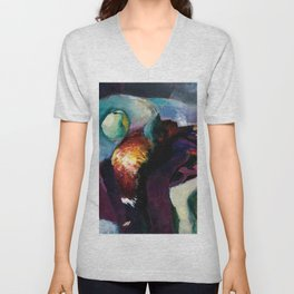 Pheasant with Green Apple Still Life Painting by Arthur Carles Unisex V-Neck
