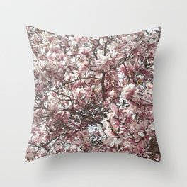 Magnolia Blossoms Throw Pillow