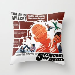 Five Fingers of Death Throw Pillow