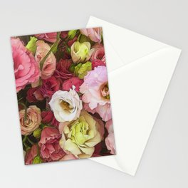 Pink Lisianthus Stationery Cards