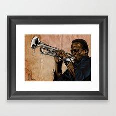 Miles, jazz will never be the same Framed Art Print