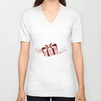 candy V-neck T-shirts featuring Candy by rusanovska