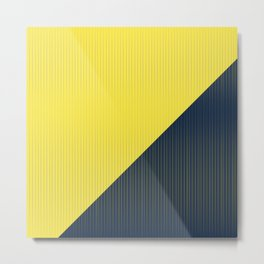 Get in line / Yellow and Navy lines Metal Print
