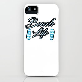 Beach Life iPhone Case