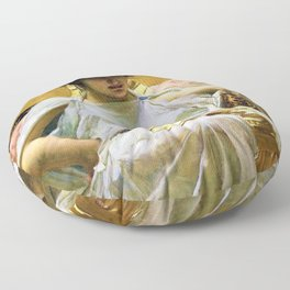 John William Waterhouse - Cleopatra - Digital Remastered Edition Floor Pillow