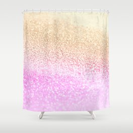 GOLD PINK GLITTER by Monika Strigel Shower Curtain