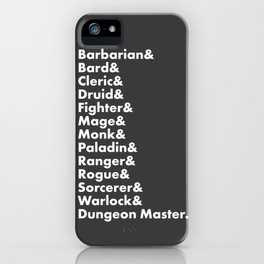 Dungeons and Dragons - Classes iPhone Case